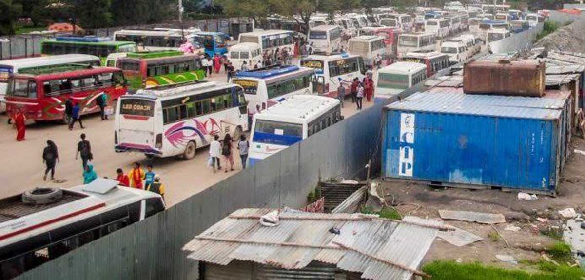 The city of Kathmandu plans remove the bus park in Khulamanch 'within a week.', Earnmoney.com.np